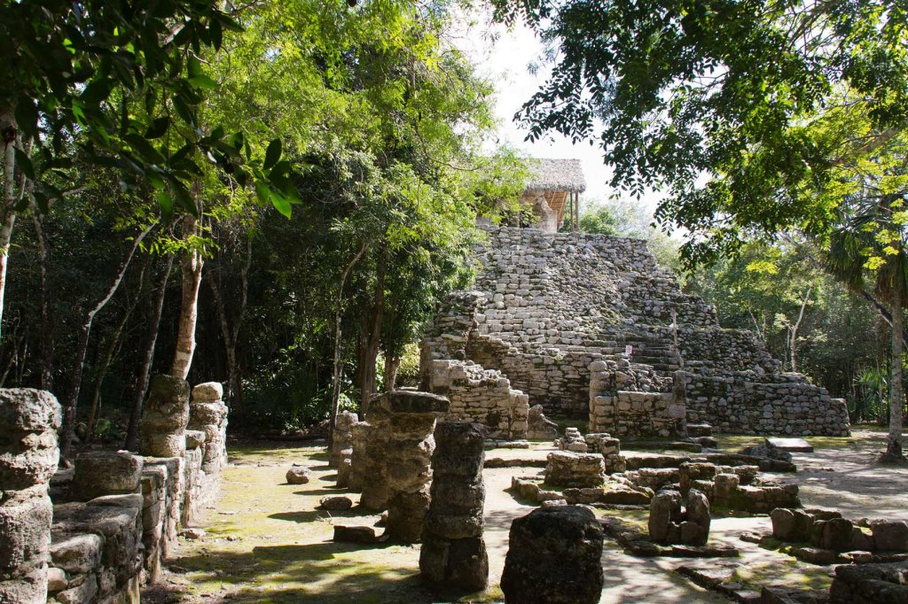 Alte Ruinen Mayas in Mexiko