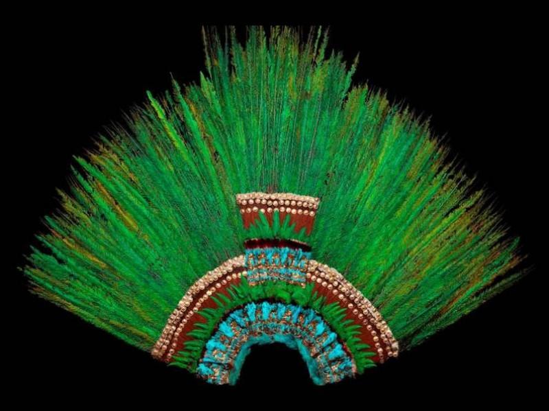 Der Federkopfschmuck Penacho Des Moctezuma Kann Nicht Nach Mexiko